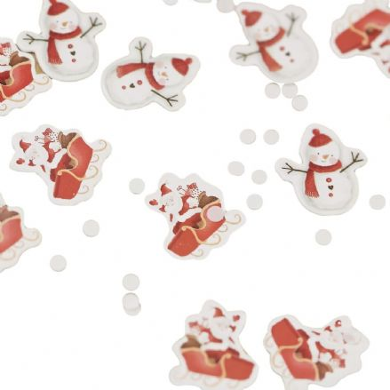 Christmas Snowman Party Table Confetti